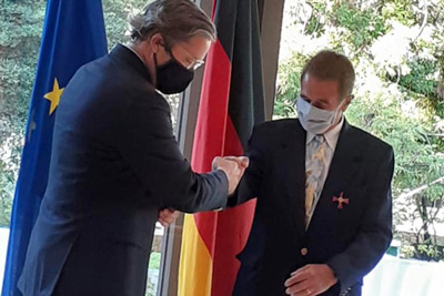 Otorgamiento de la Orden del Mérito de la República Federal de Alemania a Ricardo Hirsch